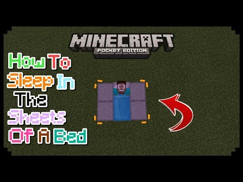 HOW TO SLEEP IN THE SHEETS OF A BED TRICK IN MCPE | MCPE TRICK | NO MODS
