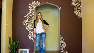 Henna Tree Wall Art Mehndi Design Music Jinni