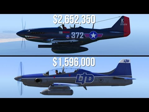 GTA 5 - P-45 Nokota Vs Rogue ($2,652,350 Vs $1,596,000)