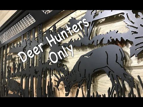 CNC PLASMA METAL ART // Wildlife Scene - Deer Turkey Wall Decor- Dallas, TX 75201