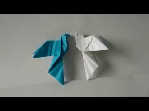 Origami Birds - How to fold an Origami Dove step-by-step