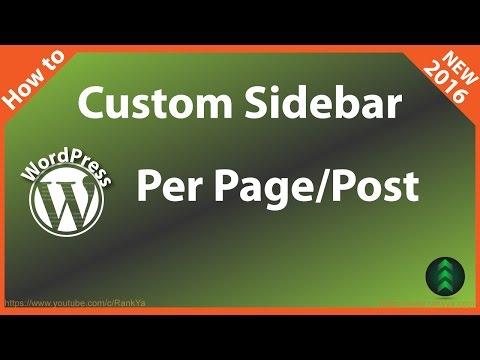 How to Add Custom Sidebar to WordPress - Per Page & Post