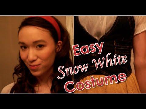 Easy Last Minute Halloween Costume Idea: Snow White