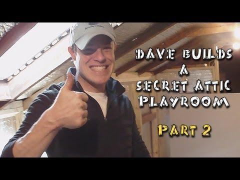 DIY Building A Secret Attic Playroom - Part 2