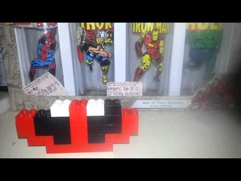 How to make Lego deadpool logo
