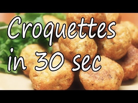 How to make Fish Croquettes under 30 sec