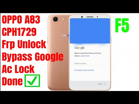 Oppo A83 Cph1729 frp Unlock/Bypass Google Account Lock Without Box