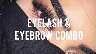 eyelash and eyebrow combo • forced subliminal
