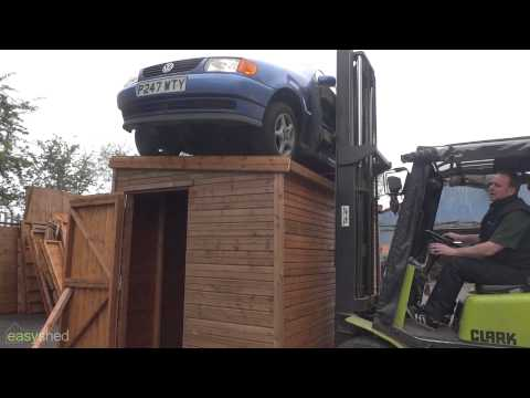 Can our shed take the weight of a car?!