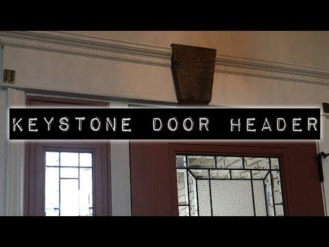 DIY Wooden Keystone for Antique Door Header
