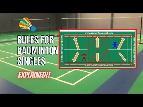 Rules for Badminton singles - By BadmintonPlanet.com