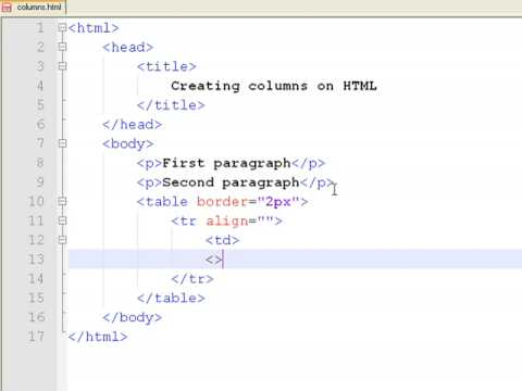 How to Create Web Pages Using HTML : How to Make Columns on a Web Page