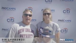 Rob Gronkowski Football Clinic Highlights