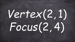Pre Calculus Finding The Standard Form Of A Parabola Given Vertex And