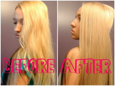 How to: Remove YELLOW from Bleach Blonde hair ♡