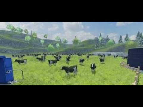 farming simulator 2013 feeding cows (episode 1)