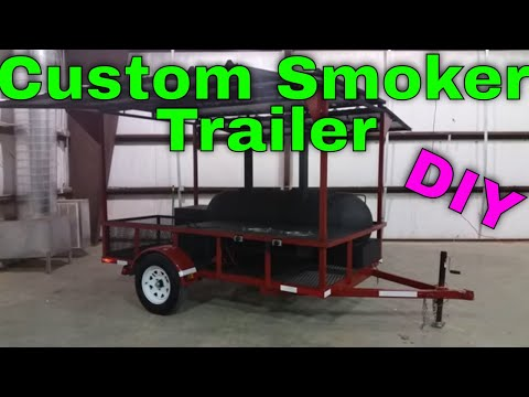 BBQ SMOKER TRAILER COMPLETED BUILD.