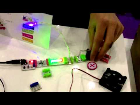 LittleBits Snap Together Circuit Boards at Toy Fair 2012 NYC