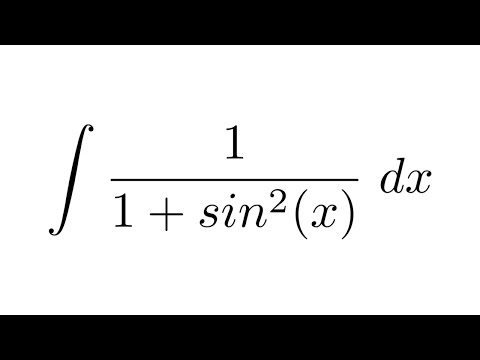 Integral of 1/(1+sin^2(x)) (substitution + substitution)