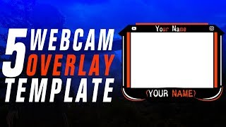 TOP 5 FREE STREAMING OVERLAY WEBCAM TEMPLATE 4! | Photoshop