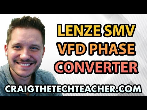 The Lenze SMV VFD Single To Three Phase Converter For AC Motors