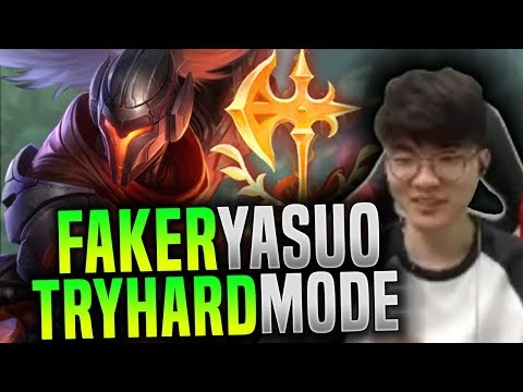 Faker Yasuo Tryhard Mode ON! - SKT T1 Faker Picks Yasuo Mid! | SKT T1 Replays