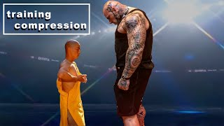 Shaolin Monks vs Martyn Ford. Kung Fu vs Gym .Training compression. Who is The Best?