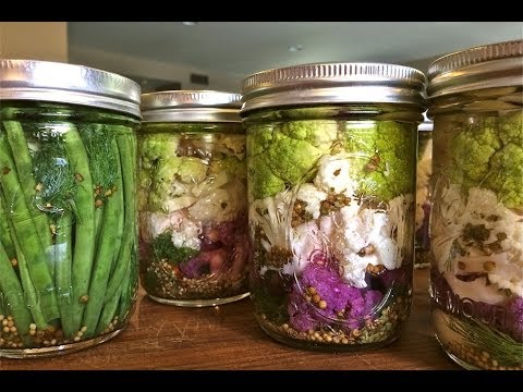 Pickled Cauliflower & Green Beans recipe by SAM THE COOKING GUY