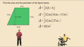 Finding The Area Of A Trapezoid