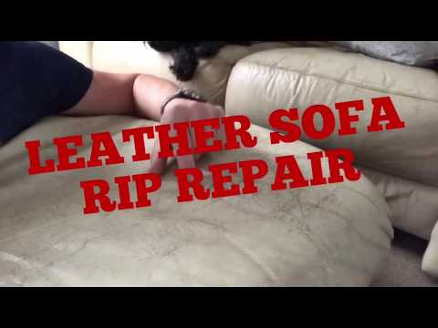 LEATHER SOFA, CHAIR RIP TEAR OR HOLE, EASY REPAIR TRICK HACK