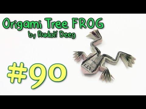Cool Origami Frog Money by Rudolf Deeg - Yakomoga dollar Origami tutorial