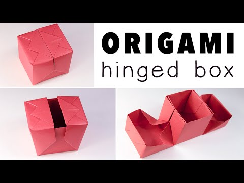 Origami Hinged Gift Box Tutorial  ♥︎ DIY ♥︎