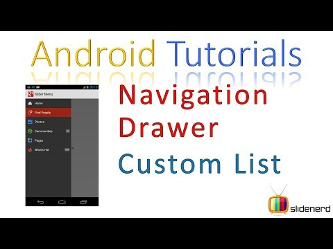 147 Custom ListView in Android Navigation Drawer |