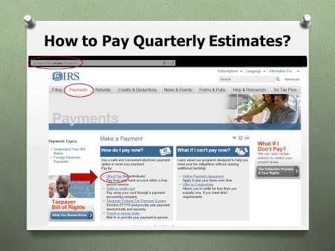 How to Pay Quarterly Estimates Online