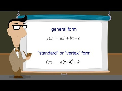 Algebra 66 - General and Vertex Forms of Quadratic Functions