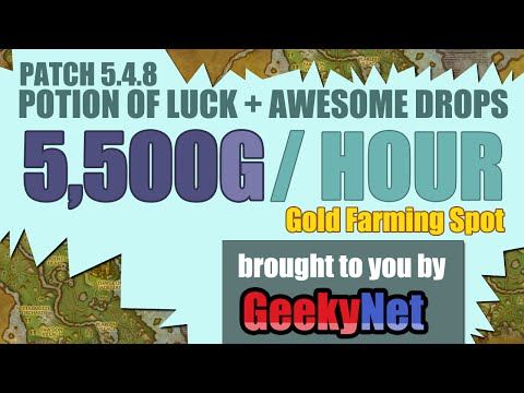 6000G PER HOUR! WoW Gold Farming Spot (Patch 6.) + Potion of Luck Farm Spot #3