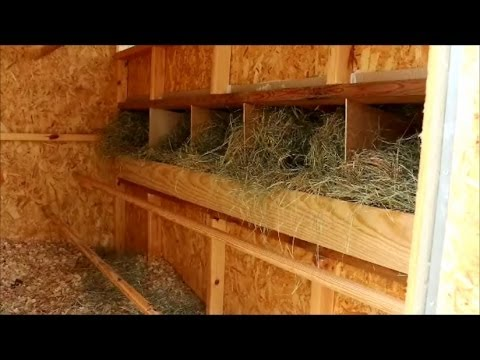 Building Nesting Boxes for the Hen House at the Preppers Retreat