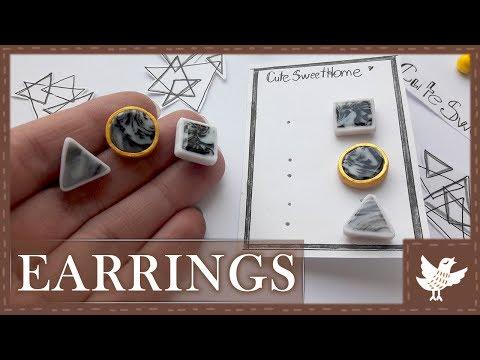 DIY || Simply Earrings || Polymer Clay Tutorial