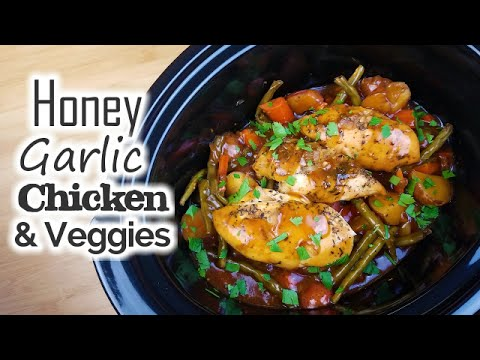 Slow Cooker Honey Garlic Chicken & Veggies - What's For Din'? - Courtney Budzyn - Recipe 65