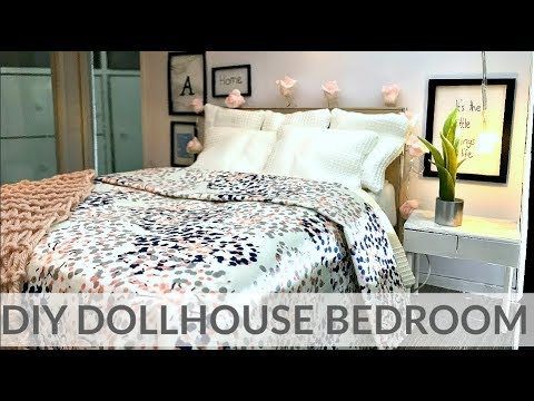 Doll craft: DIY BEDROOM (bed/nightstand/ decor...)