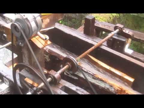 12 V waterwheel generator, Installation Rostfest 2012