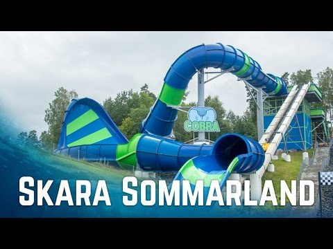 Water Slides at Skara Sommarland (GoPro POV)