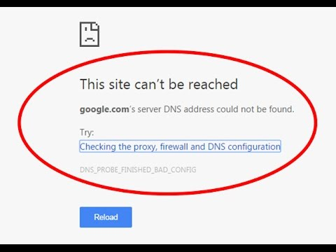 Fix DNS address could not be found|This site can't be reached|DNS_PROBE_FINISHED_BAD_CONFIG
