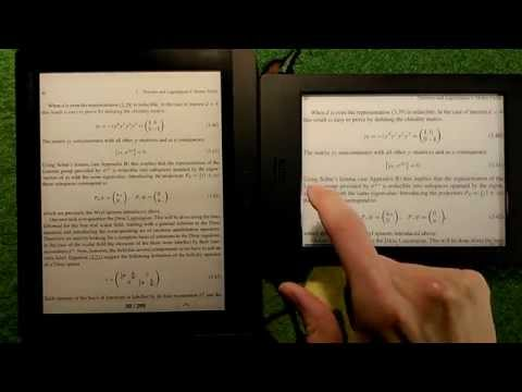 Scientific PDF/Books on Kobo Aura H2O and Pocketbook Inkpad