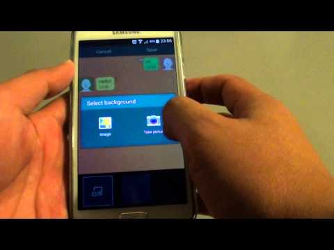 Samsung Galaxy S5: How to Change Text Messages Background Style