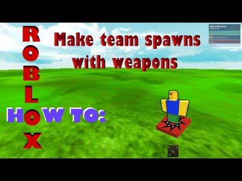 Roblox Studio how to make teams spawn with weapons
