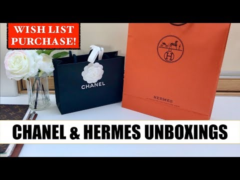 Wish List  Purchase 😍   Chanel & Hermes Unboxings 👀