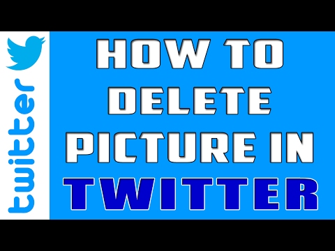 How to Delete Pictures in twitter | Remove Pictures in twitter 2017