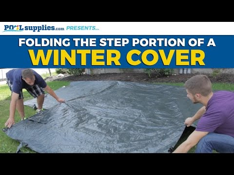 Folding the Step Portion of a Winter Cover