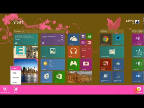 How to Resize Start Screen Tiles in Windows 8 1
